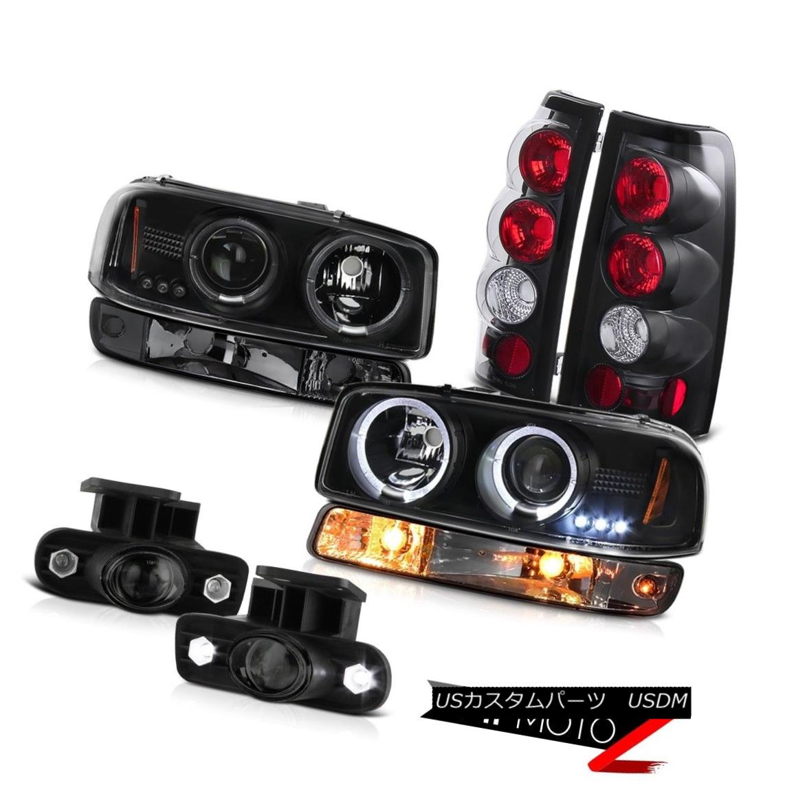 ヘッドライト 99-02 Sierra 4.3L Fog lights inky black tail brake bumper light Headlights Euro 99-02シエラ4.3Lフォグライトインクニーブラックテールブレーキバンパーライトヘッドライトユーロ