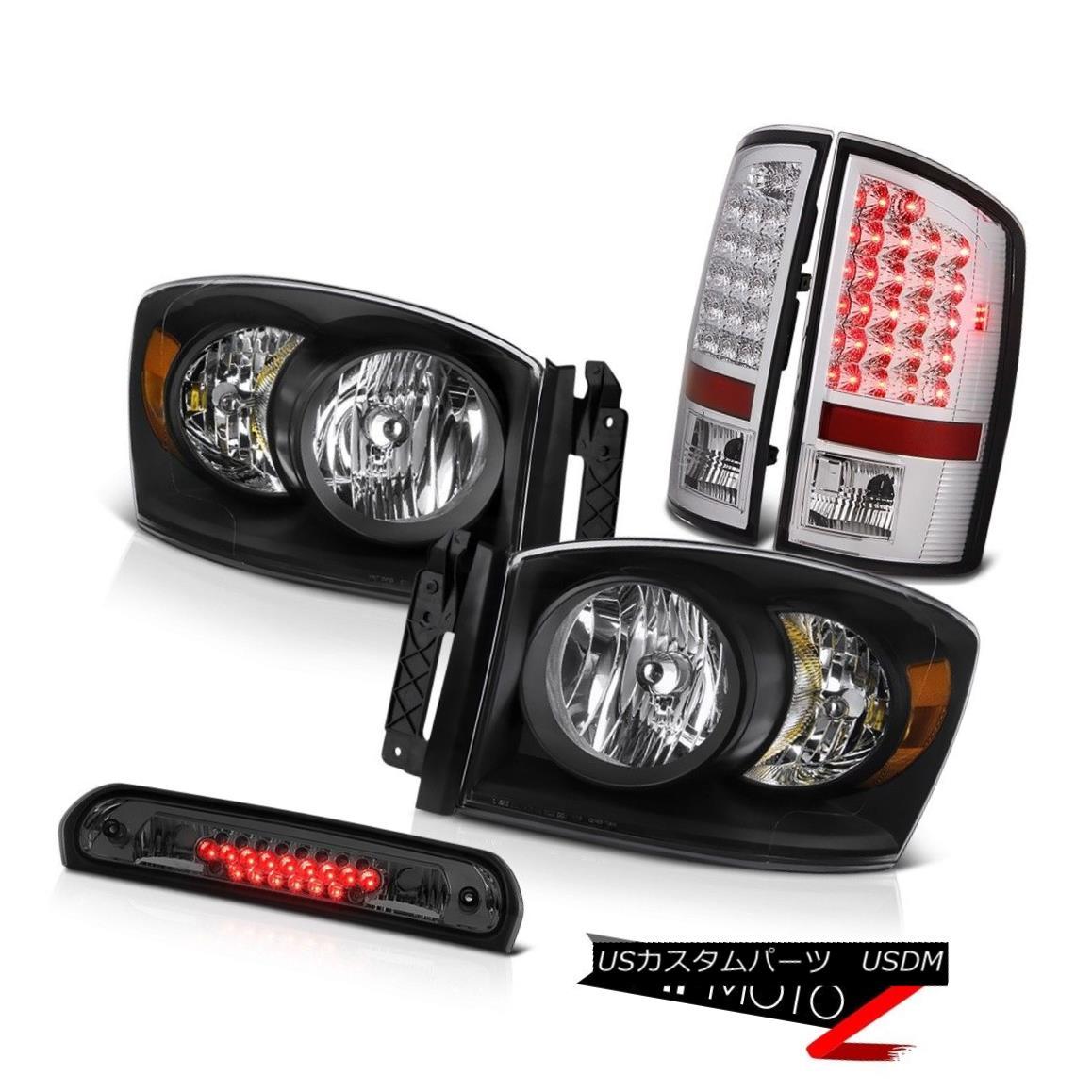 ヘッドライト 2006 Dodge Ram 1500 Black Diamond Headlights SMD Tail Light Roof Brake Cargo LED 2006ダッジラム1500ブラックダイヤモンドヘッドライトSMDテールライトルーフブレーキカーゴLED