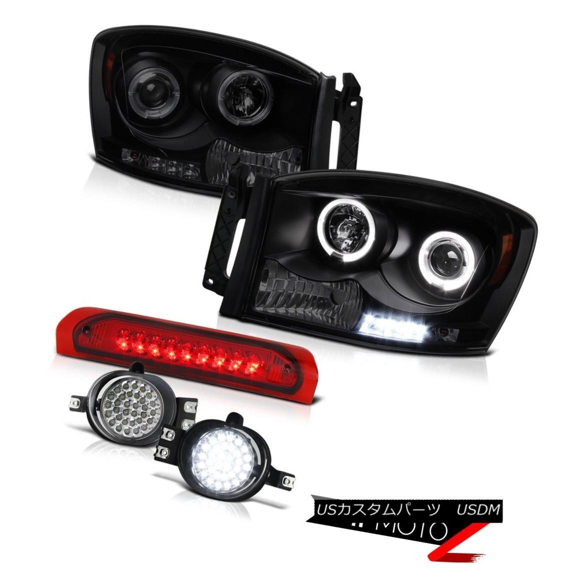 ヘッドライト 06 Dodge Ram Laramie LED Daytime Headlight Third Brake Light FULL SMD Fog Lamps 06ドッジラムララミーLED昼間ヘッドライト第3ブレーキライトFULL SMDフォグランプ