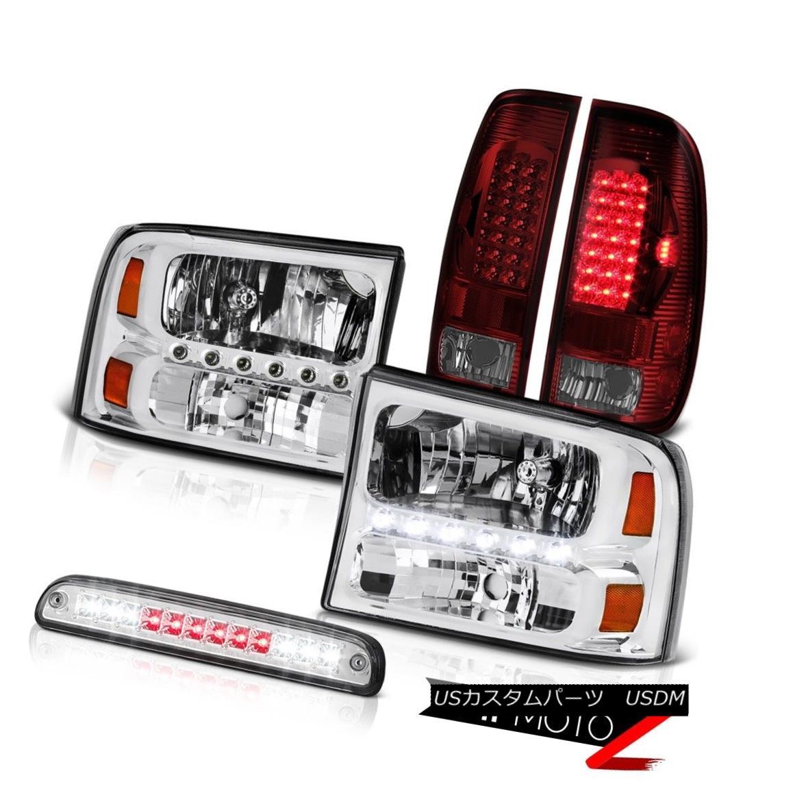 ヘッドライト Headlights Roof Third Brake Cargo LED Burgundy 99 00 01 02 03 04 F250 Lariat ヘッドライト屋根第3ブレーキカーゴLEDブルゴーニュ99 00 01 02 03 04 F250ラリアート