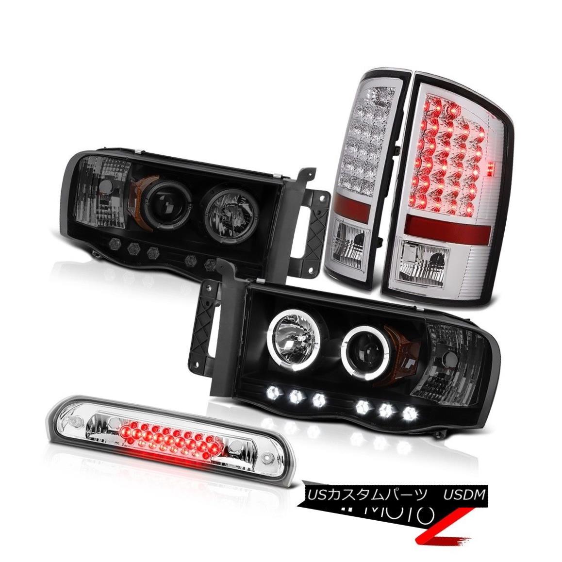 ヘッドライト 2X Angel Eye Projector Headlights SMD Tail Lights Euro Third LED 02-05 Ram WS 2XエンジェルアイプロジェクターヘッドライトSMDテールライトユーロサードLED 02-05 Ram WS