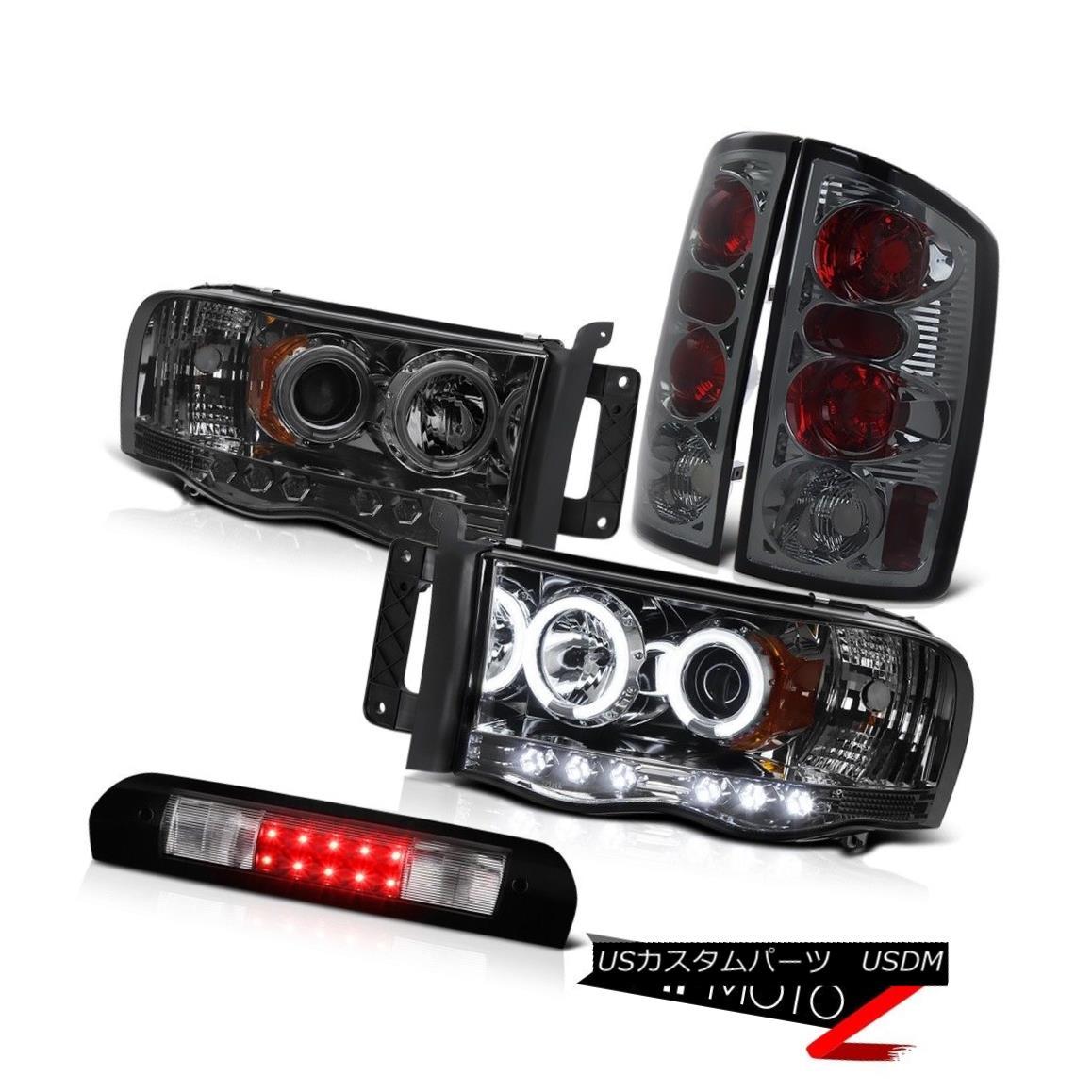 ヘッドライト Smoke CCFL Halo Headlights Rear Lights Roof Stop LED Black 02 03 04 05 Dodge Ram 煙CCFLハローヘッドライトリアライトルーフストップLEDブラック02 03 04 05 Dodge Ram