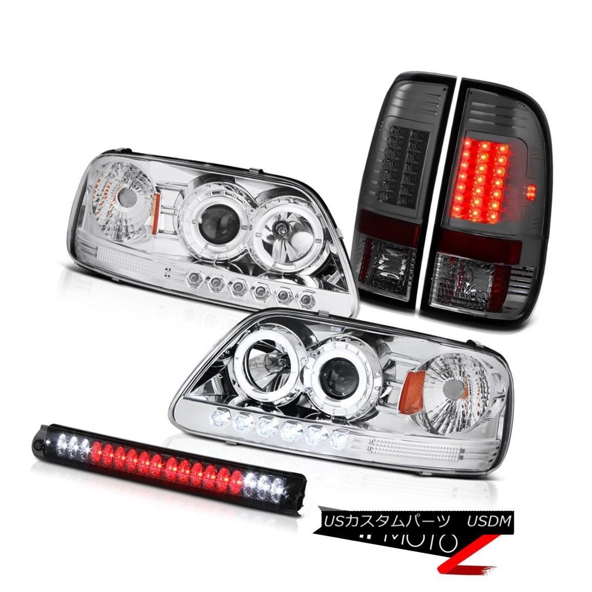 ヘッドライト Chrome Halo LED Headlights 97-03 F150 SVT Bulbs Tail Light Roof Brake Lamps Tint クロームハローLEDヘッドライト97-03 F150 SVT球根テールライトルーフブレーキランプ色合い