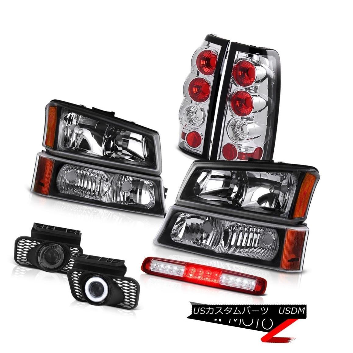 ヘッドライト 03-06 Silverado 1500 Black Parking Lamp 3RD Brake Headlights Foglamps Taillamps 03-06シルバラード1500ブラック・パーキング・ランプ3RDブレーキ・ヘッドライトフォグランプ・タイルランプ