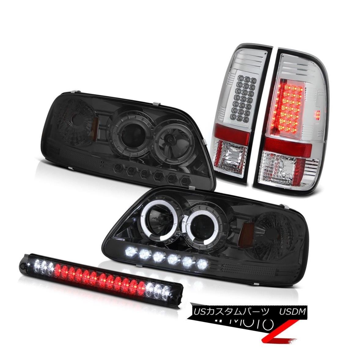 ヘッドライト 1997-2003 FORD F150 Smoke Headlight Halo Bright LED Tail Lights Brake Cargo Lamp 1997-2003フォードF150煙ヘッドライトハローブライトLEDテールライトブレーキカーゴランプ