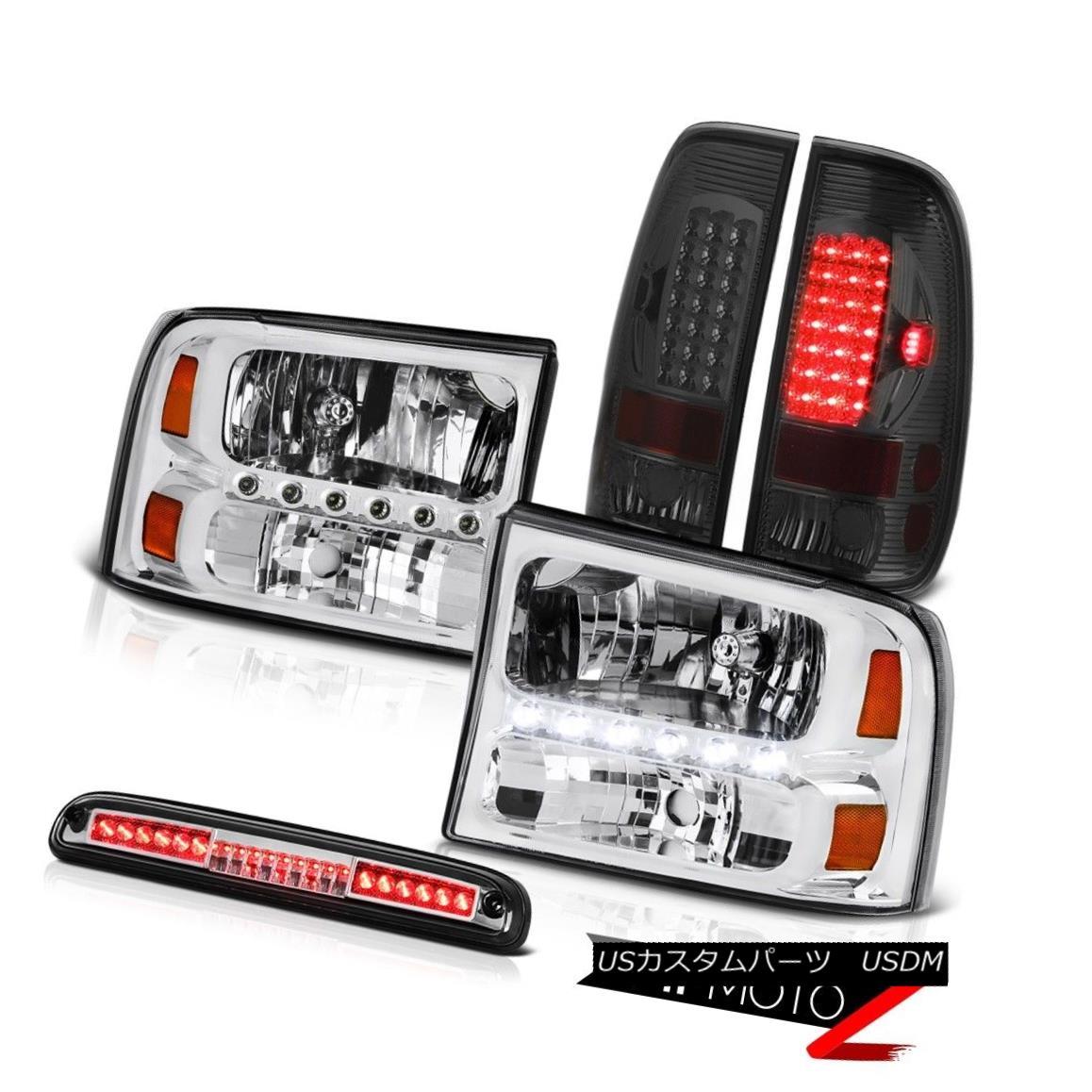 ヘッドライト Clear Headlight Smoke LED TailLight Chrome 3rd Brake 99 00 01 02 03 04 F250 7.3L クリアヘッドライトスモークLED TailLight Chrome 3rdブレーキ99 00 01 02 03 04 F250 7.3L