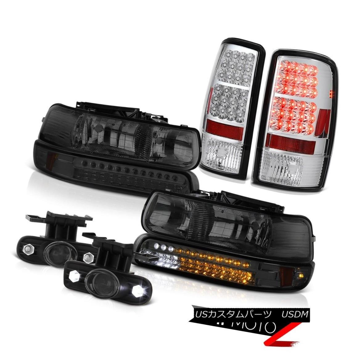 ヘッドライト Smoke LED Bumper Headlight Headlamp 2000-06 Chevy Tahoe Tail Light Projector Fog スモークLEDバンパーヘッドライトヘッドランプ2000-06 Chevy Tahoeテールライトプロジェクターフォグ