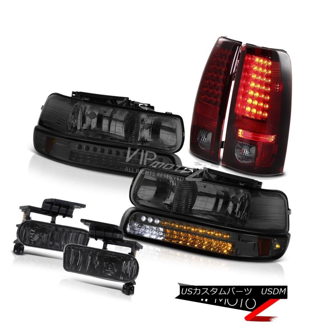 ヘッドライト 99-2002 Chevy Silverado 2500HD Bumper LED Headlights Bulbs Tail Lights Foglights 99-2002シボレーシルバラード2500HDバンパーLEDヘッドライト電球テールライトフォグライト