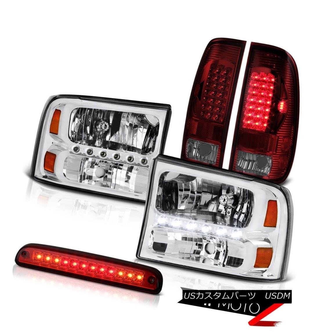 ヘッドライト Chrome Headlamps Third Brake Cargo Bulbs Tail Light 99 00 01 02 03 04 F350 6.8L クロームヘッドランプ第3ブレーキカーゴ球根テールライト99 00 01 02 03 04 F350 6.8L