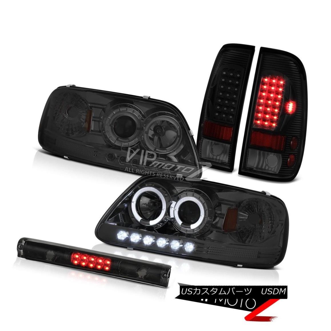 ヘッドライト 1997-2003 F150 Lariat Roof Brake Light Smoke Tinted Tail Lights Headlights LED 1997-2003 F150 LariatルーフブレーキライトスモークテールテールライトヘッドライトLED