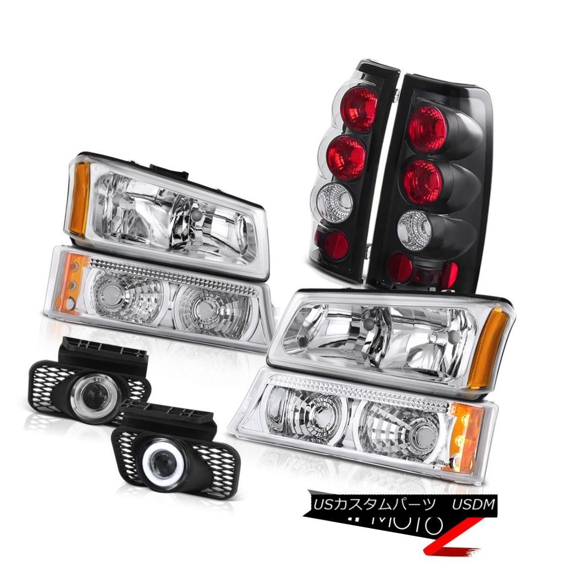 ヘッドライト 2003-2006 Silverado Left Right Headlight Bumper Lamp Tail Light DRL LED foglight 2003-2006シルバラード左ライトヘッドライトバンパーランプテールライトDRL LEDフォグライト