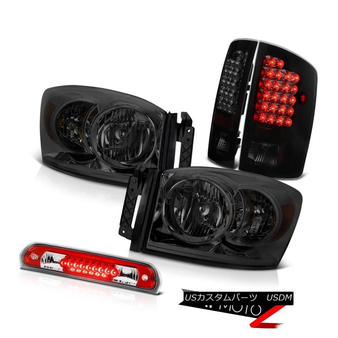 ヘッドライト 2006 Dodge Ram WS Dark Smoke Headlamps Tinted LED Tail Lights Roof Brake Cargo 2006ダッジ・ラムWSダーク・スモーク・ヘッドランプLEDテール・ライトルーフ・ブレーキ・カーゴ