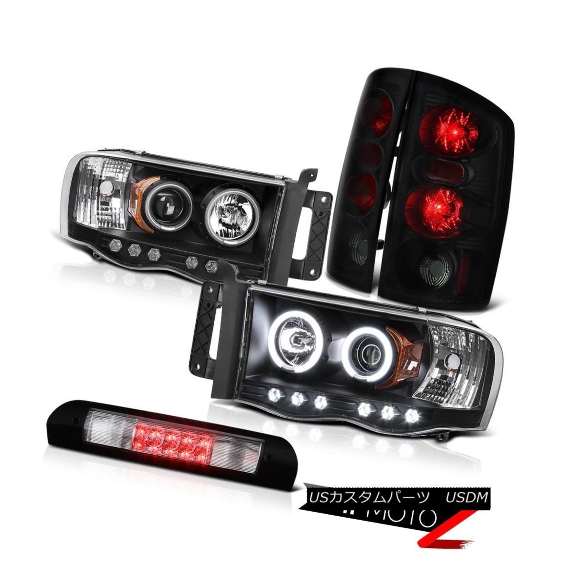ヘッドライト Headlamps Sinister Black Rear Tail Lights Roof Stop LED Clear 2002-2005 Ram SLT ヘッドランプSinister BlackリアテールライトルーフストップLED Clear 2002-2005 Ram SLT