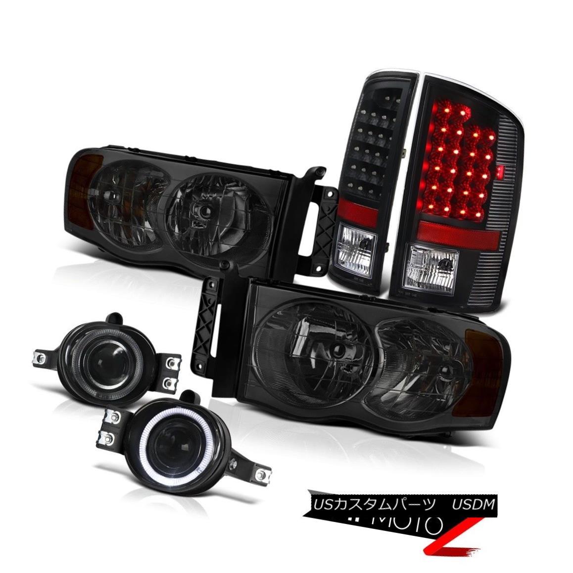 ヘッドライト 2002-2005 Dodge Ram SMOKE HeadLight BLACK LED TAIL LIGHT SMOKE PROJ FOG LIGHT 2002-2005 Dodge Ram SMOKEヘッドライトBLACK LEDテールライトソーキングPROJ FOGライト