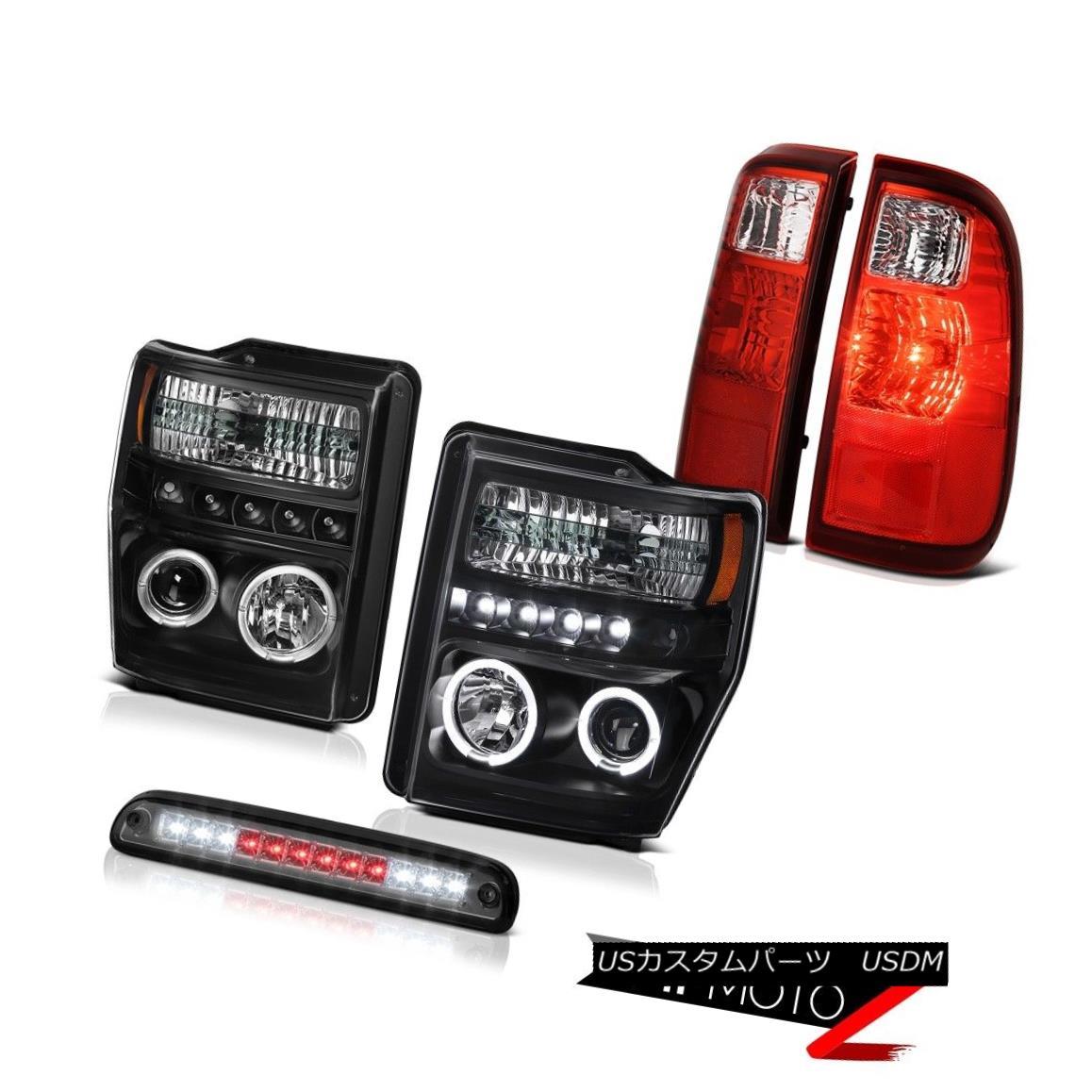 ヘッドライト Projector Headlights Brake Cargo LED RED Tail Light Assembly 2008 2009 2010 F350 プロジェクターヘッドライトブレーキカーゴLED REDテールライトアセンブリ2008 2009 2010 F350