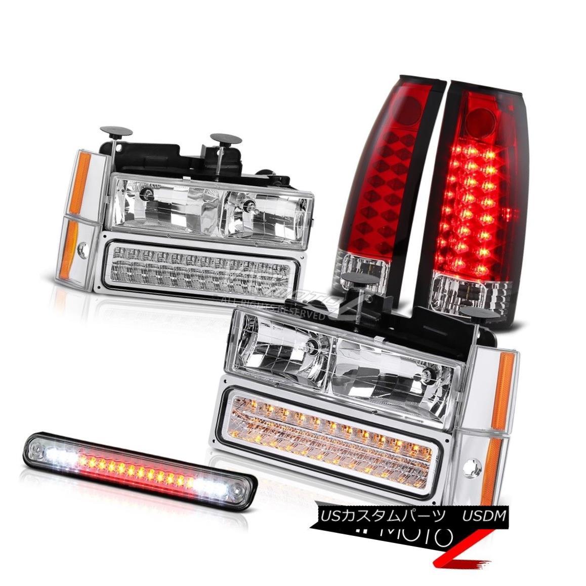 ヘッドライト 1988-1993 Chevrolet C1500 K1500 Truck Parking Corner Red LED Taillight Headlight 1988-1993シボレーC1500 K1500トラックパーキングコーナーレッドLEDテールライトヘッドライト