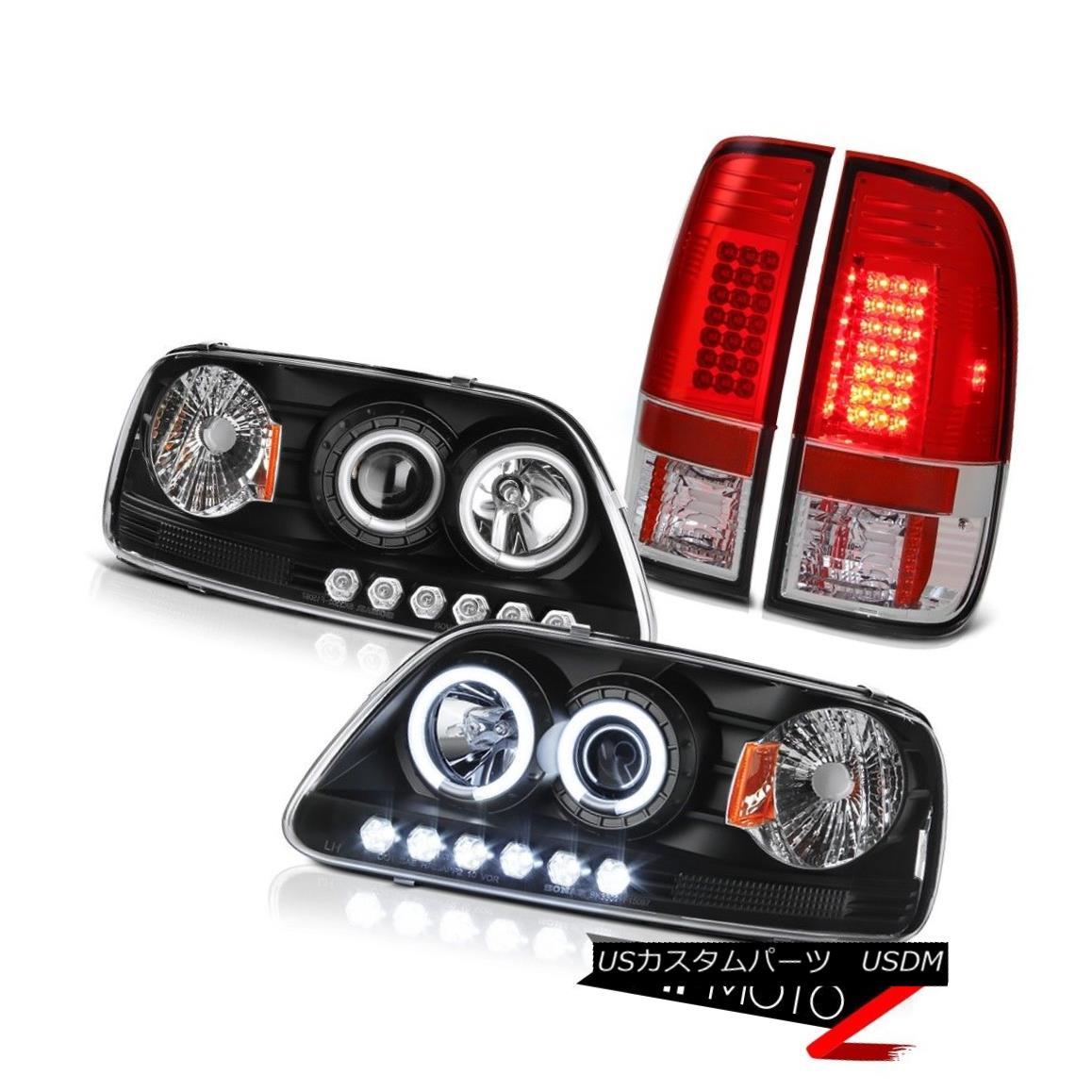 ヘッドライト F150 Triton 2001 2002 2003 CCFL Angel Eye Halo Headlight BRIGHTEST LED Tail Lamp F150トリトン2001 2002 2003 CCFLエンジェルアイハローヘッドライトBRIGHTEST LEDテールランプ