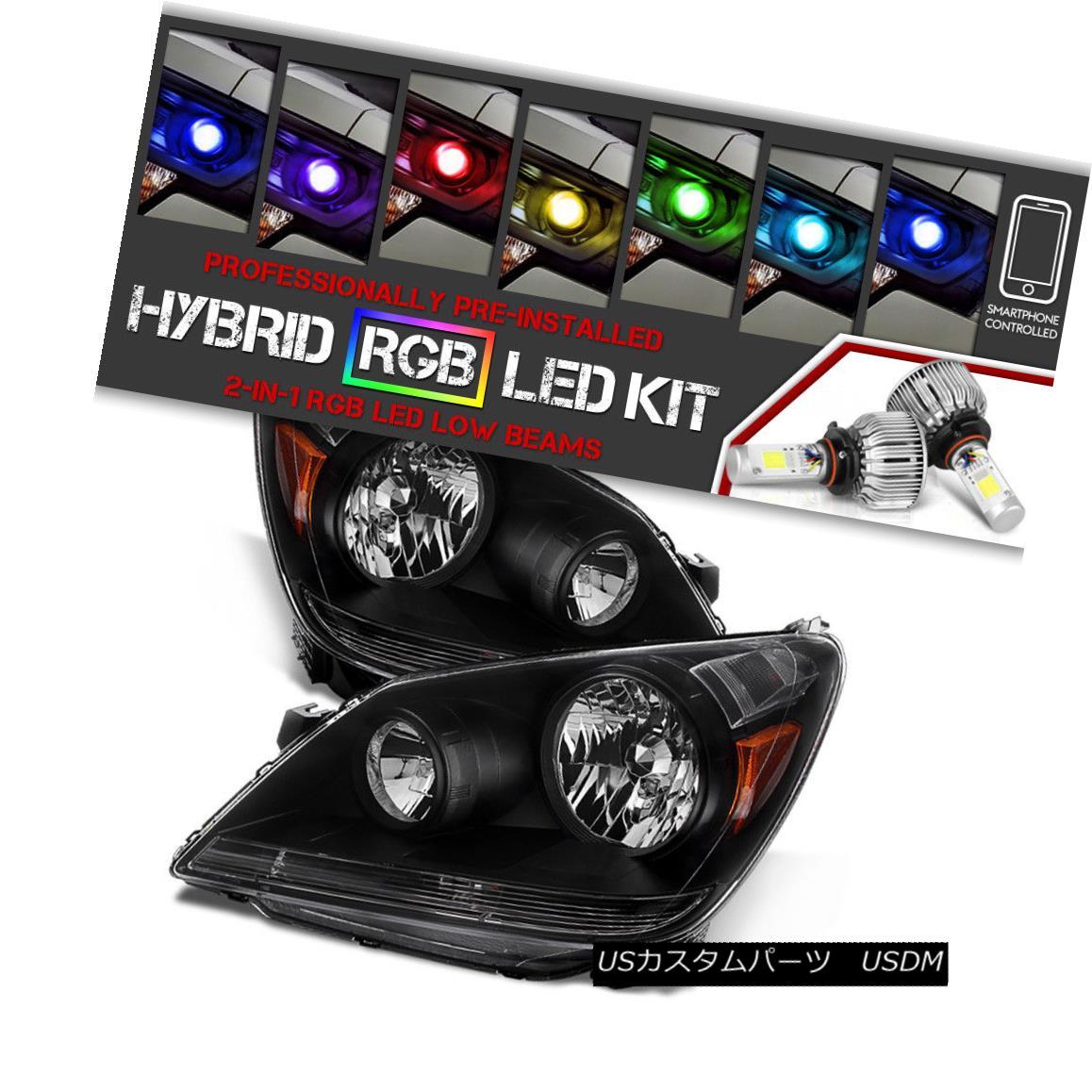ヘッドライト [REMOTE COLOR LED LOW BEAM] 05-07 Honda Odyssey Van [JDM VIP STYLE] Headlights [REMOTE COLOR LED LOW BEAM] 05-07ホンダオデッセイヴァン[JDM VIP STYLE]ヘッドライト