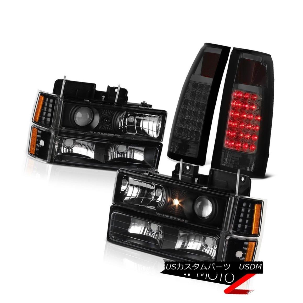 ヘッドライト 1994 1995 1996 1997 1998 Chevy CK 1500 2500 3500 Headlight Smoke LED Tail Lamp 1994 1995 1995 1996 1997 1998 Chevy CK 1500 2500 3500ヘッドライトスモークLEDテールランプ
