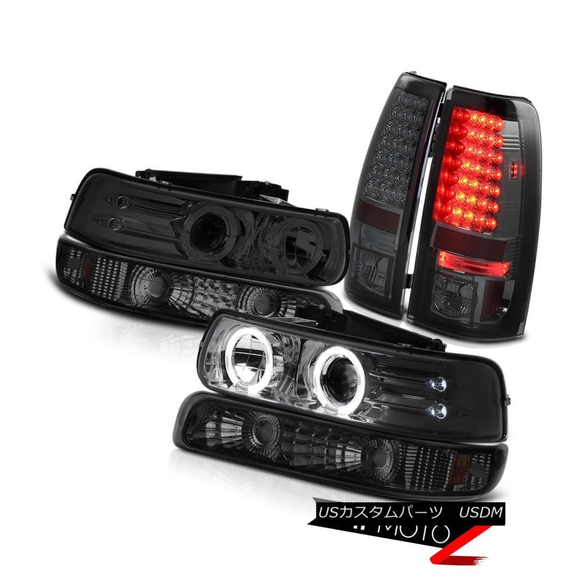 ヘッドライト 99 00 01 02 Silverado LED Tinted Headlights Turn Signal Bumper Smoke Tail Light 99 00 01 02 Silverado LED Tintedヘッドライトターンシグナルバンパー煙テールライト