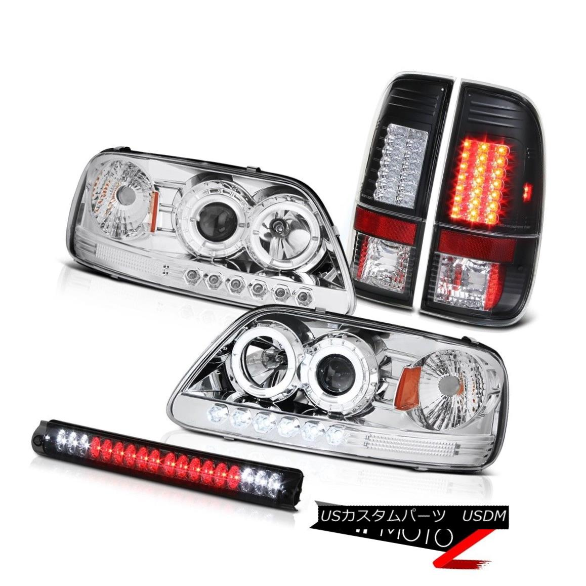 ヘッドライト 1997-2003 FORD F150 Euro Halo LED Projector Headlight Black Tail Roof Lamp Smoke 1997-2003フォードF150ユーロHalo LEDプロジェクターヘッドライトブラックテールルーフランプスモーク