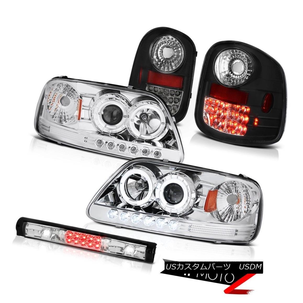 ヘッドライト Halo Headlights L.E.D Rear Tail Lights 3rd Brake LED 97-03 F150 Flareside 4.6L ハローヘッドライトL.E.Dリアテールライト第3ブレーキLED 97-03 F150フラレージド4.6L