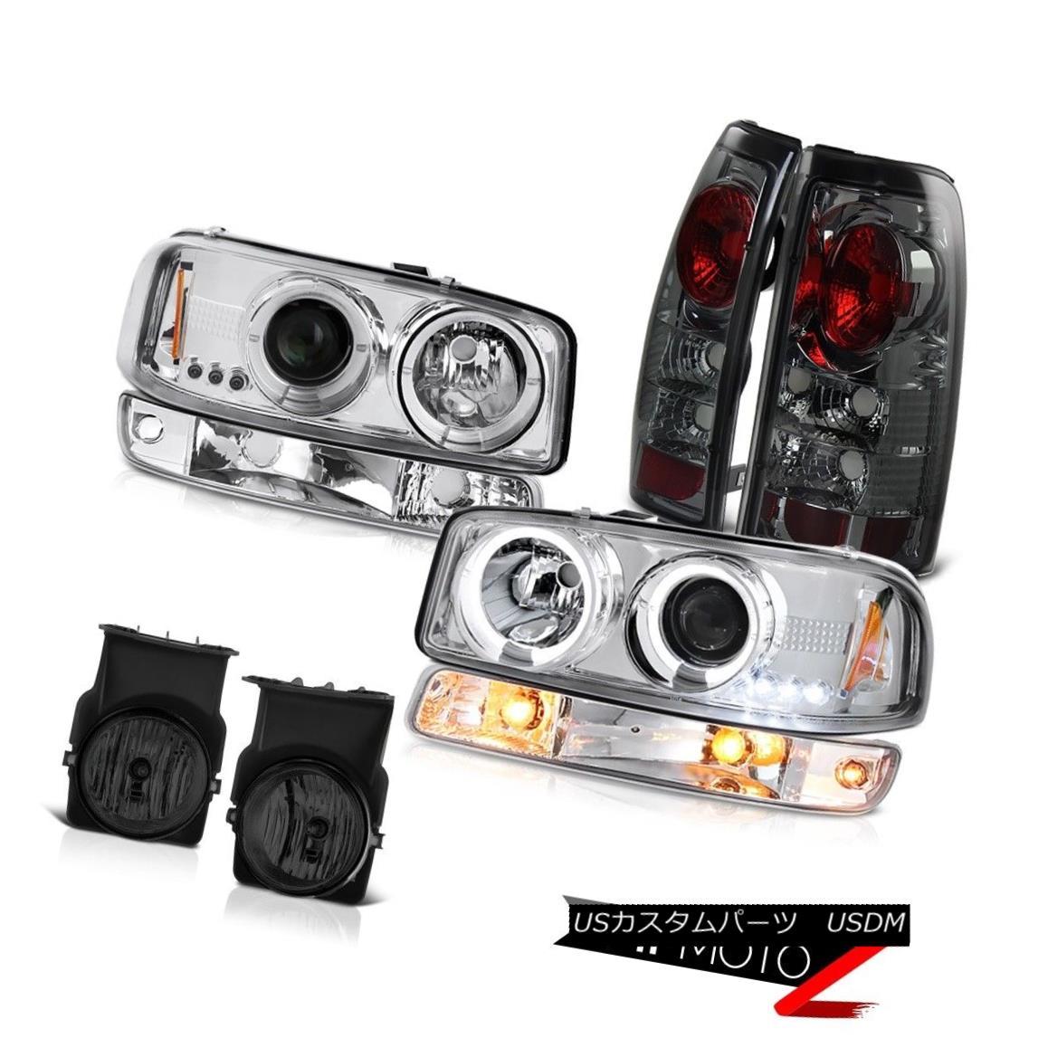 ヘッドライト 2003-2006 Sierra 4.3L Foglamps tail brake lamps chrome turn signal headlamps 2003-2006シエラ4.3Lフォグランプテールブレーキランプクロームターンシグナルヘッドライト