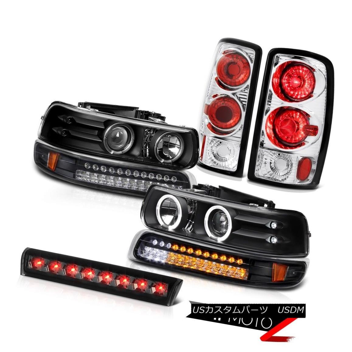 ヘッドライト Halo Headlights LED Black Bumper Chrome Rear Tail Lamps 3rd 00-06 Suburban 5.7L HaloヘッドライトLEDブラックバンパークロームリアテールランプ3rd 00-06郊外5.7L