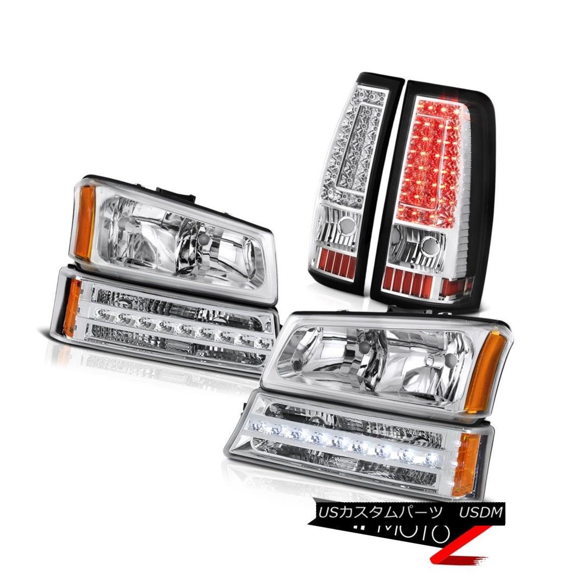 ヘッドライト 03 04 05 06 Silverado 2500Hd Clear Chrome Parking Brake Lights Light Headlights 03 04 05 06 Silverado 2500Hdクリアクロームパーキングブレーキライトライトヘッドライト