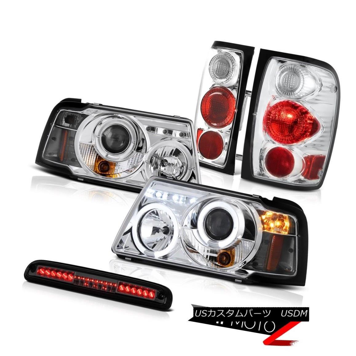 ヘッドライト Chrome Headlights Euro Tail Lights Smoke Third Brake 2001-2011 Ranger 4.0L クロームヘッドライトユーロテールライトスモークサードブレーキ2001-2011レンジャー4.0L