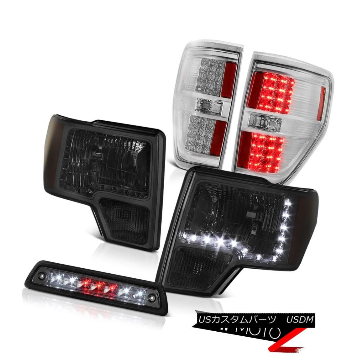 ヘッドライト 09-14 FORD F150 3.5L Roof brake lamp taillamps headlights led drl SMD OE Style 09-14フォードF150 3.5Lルーフブレーキランプテールライトヘッドライトled drl SMD OEスタイル