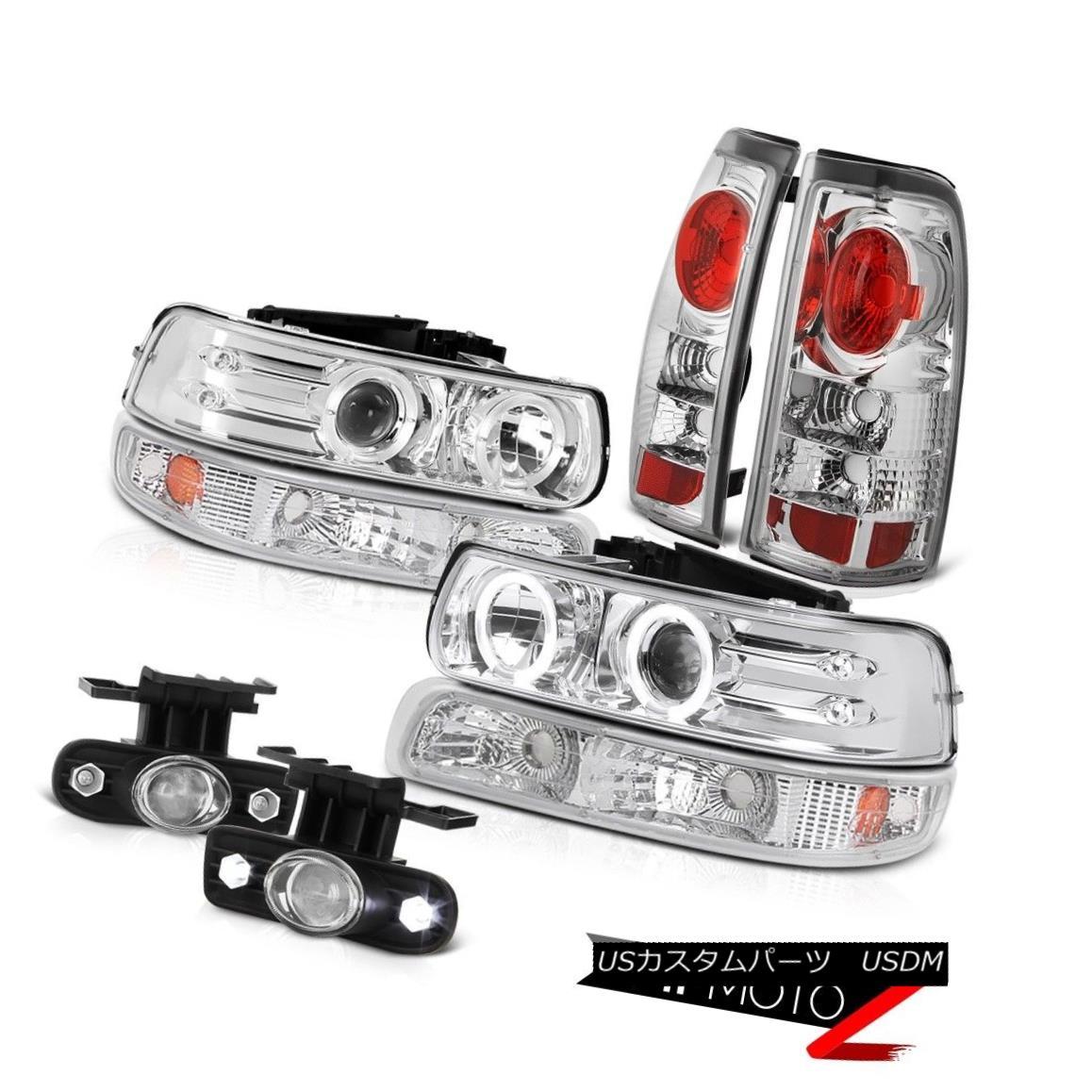 ヘッドライト Chrome Projector Headlamps Bumper Brake Lights Euro Fog 99 00 01 02 Silverado WT クロームプロジェクターヘッドランプバンパーブレーキライトEuro Fog 99 00 01 02 Silverado WT