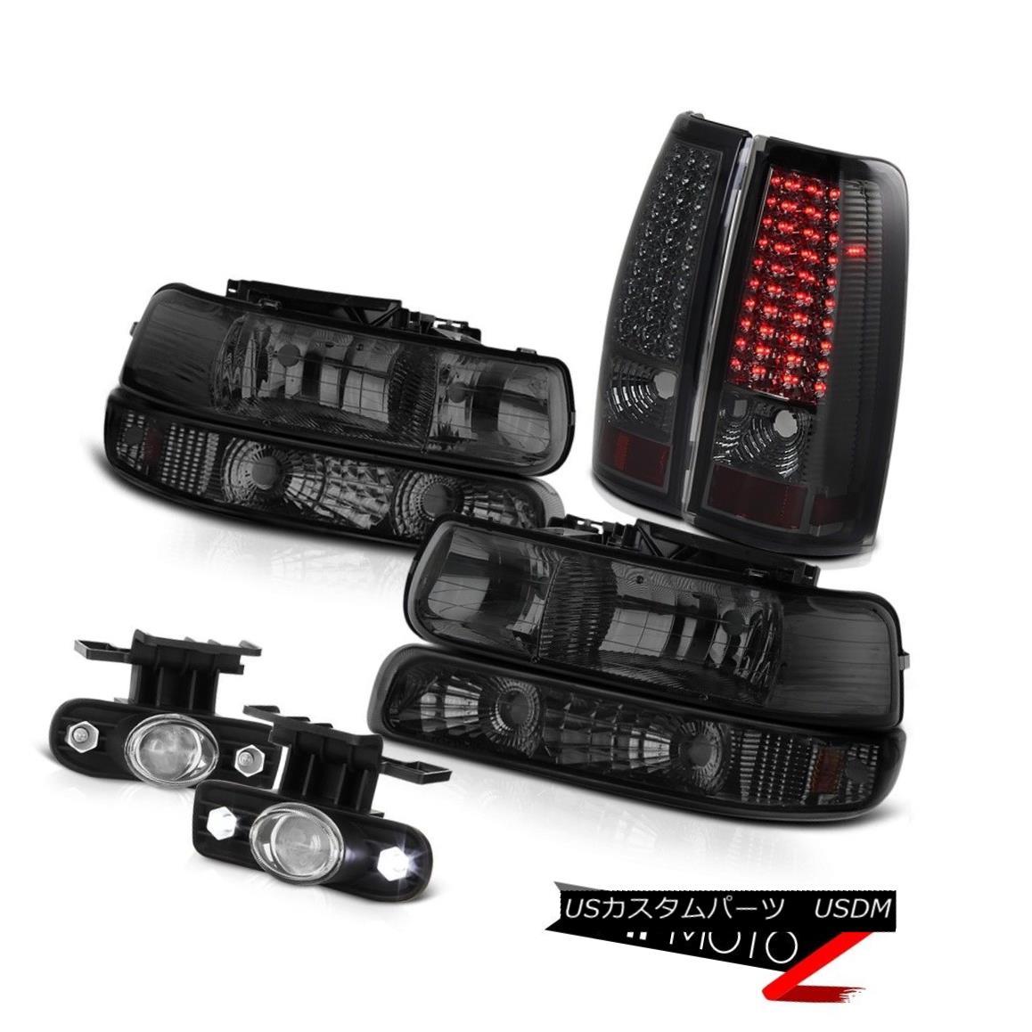 ヘッドライト 99-02 Silverado Dark Tinted Headlight Bumper Projector Fog Bright LED Tail Lamps 99-02 Silverado Dark TintedヘッドライトバンパープロジェクターフォグブライトLEDテールランプ