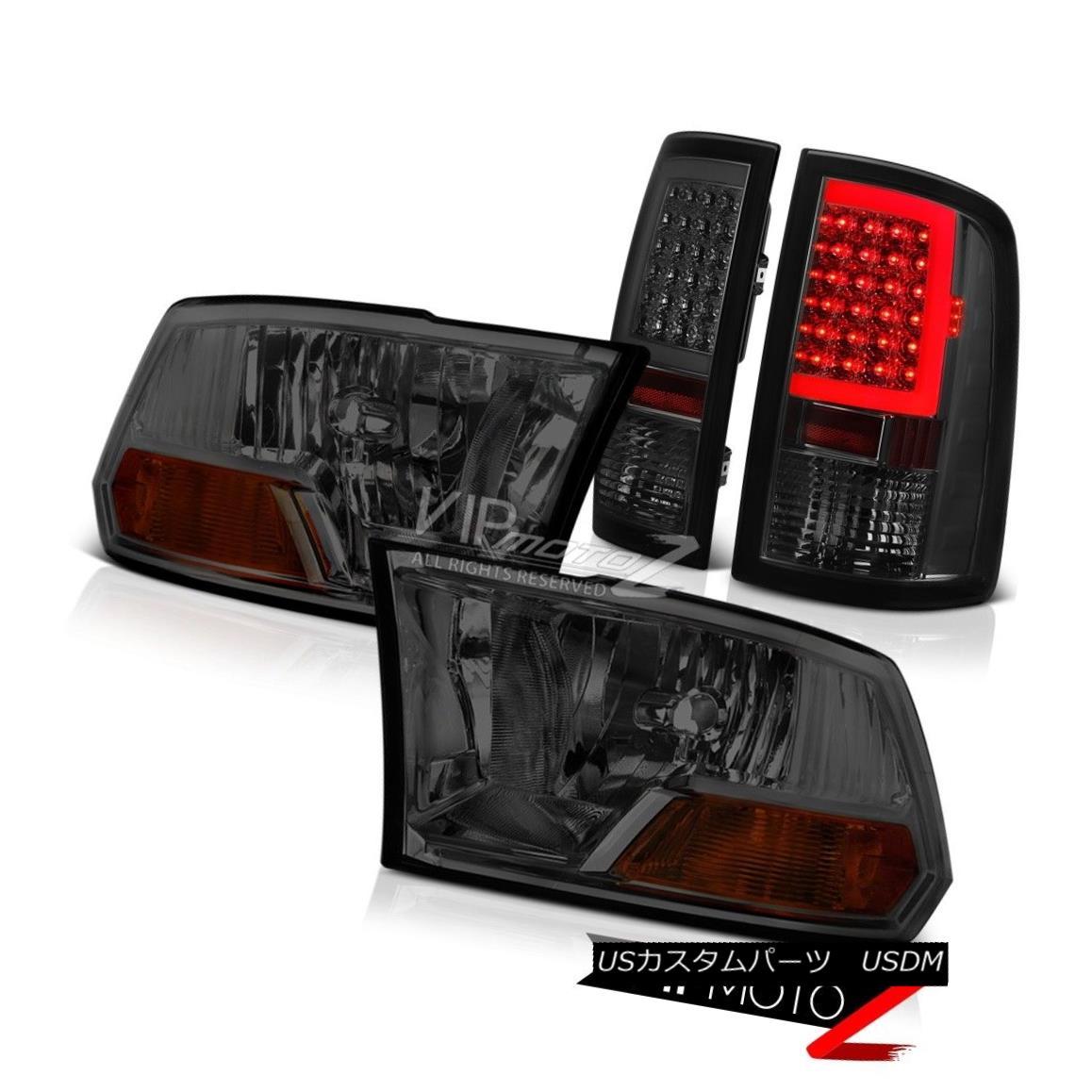 ヘッドライト 09-16 17 18 Dodge RAM 3500 Smokey Tail Lamps Factory Style Headlamps Replacement 09-16 17 18ダッジRAM 3500スモーキーテールランプ工場スタイルヘッドランプ交換