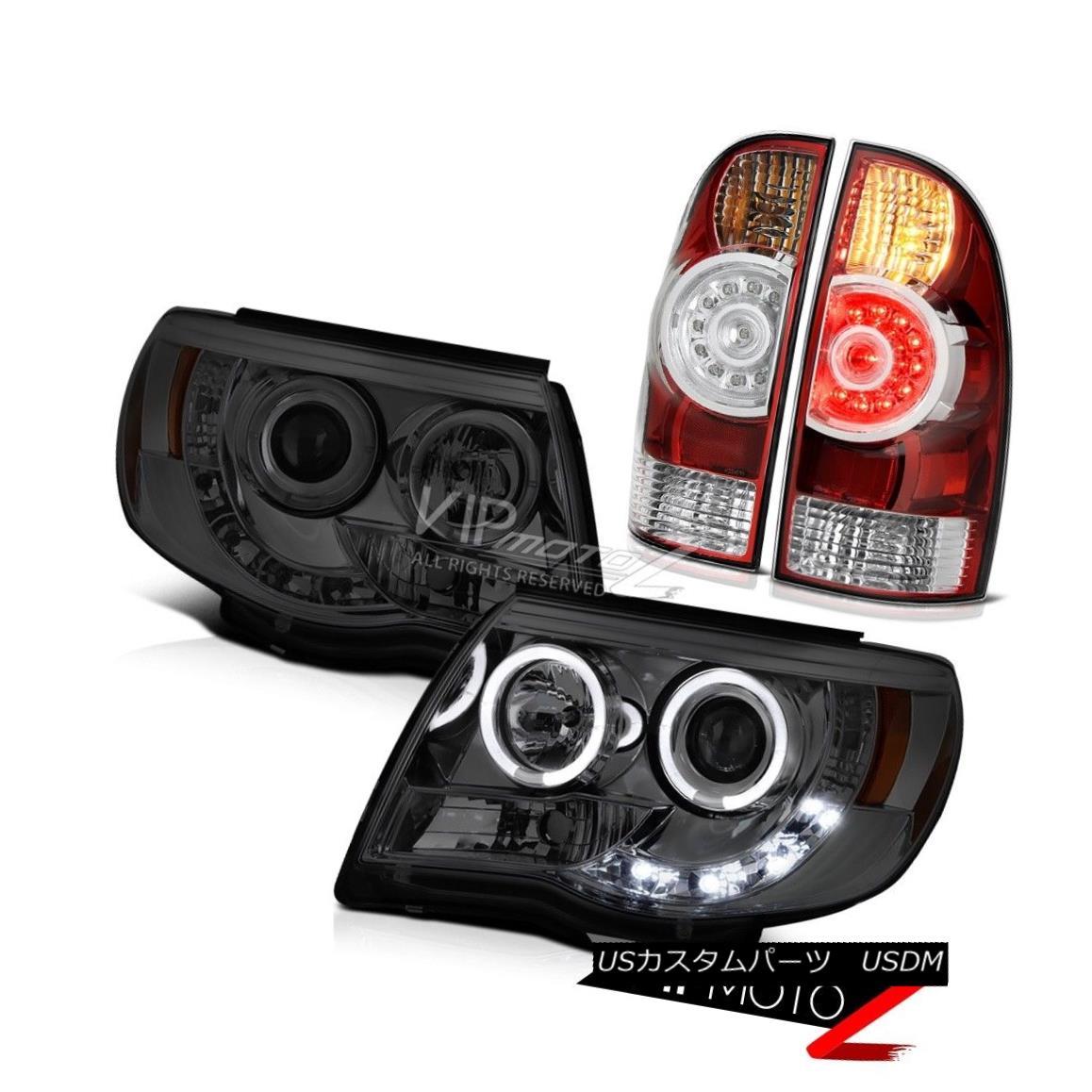 ヘッドライト 2005-2011 Tacoma 2.7L Headlamps rosso red tail brake lamps Halo Rim Dual Halo 2005-2011タコマ2.7LヘッドランプロッソレッドテールブレーキランプHalo Rim Dual Halo