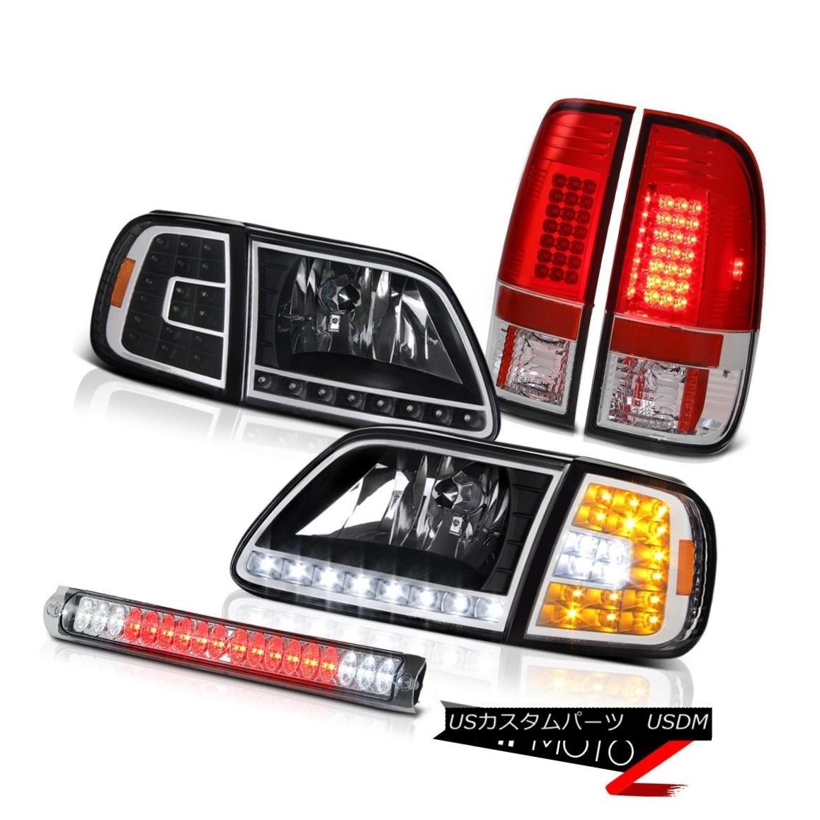 ヘッドライト 97 98 99 00 01 02 03 F150 5.4 LED Corner Headlights Red Tail High Stop Clear 97 98 99 00 01 02 03 F150 5.4 LEDコーナーヘッドライト赤テールハイストップクリア