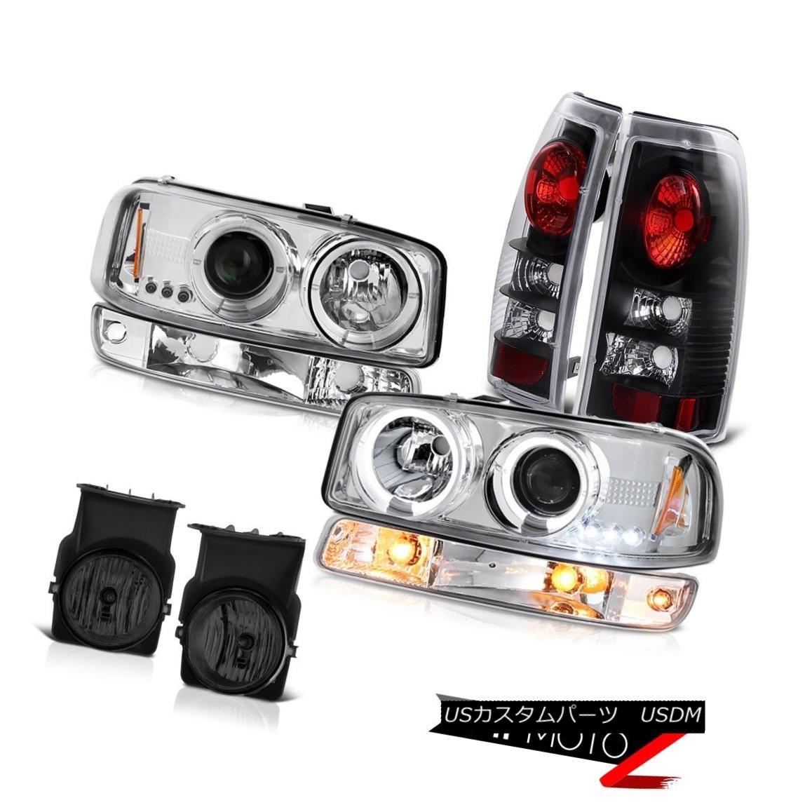 ヘッドライト 2003-2006 Sierra SL Foglamps black tail lights signal lamp projector headlamps 2003-2006シエラSLフォグランプブラックテールライト信号ランププロジェクターヘッドランプ