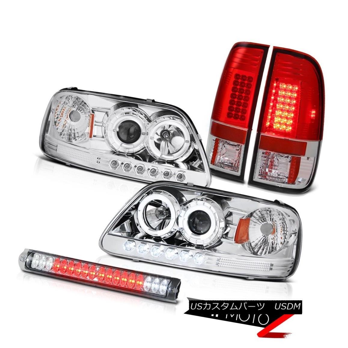 ヘッドライト Chrome LED Angel Eye Headlights Tail Lights Third Brake Lamp Ford F150 1997-2003 クロームLEDエンジェルアイヘッドライトテールライト第3ブレーキランプフォードF150 1997-2003