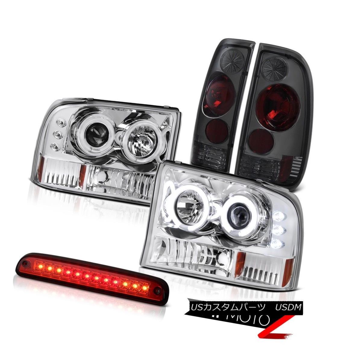 ヘッドライト Euro CCFL HeadLights Third Brake Red LED Altezza Tinted Tail Lamps 99-04 F350 ユーロCCFLヘッドライトサードブレーキレッドLED Altezzaテールテールランプ99-04 F350