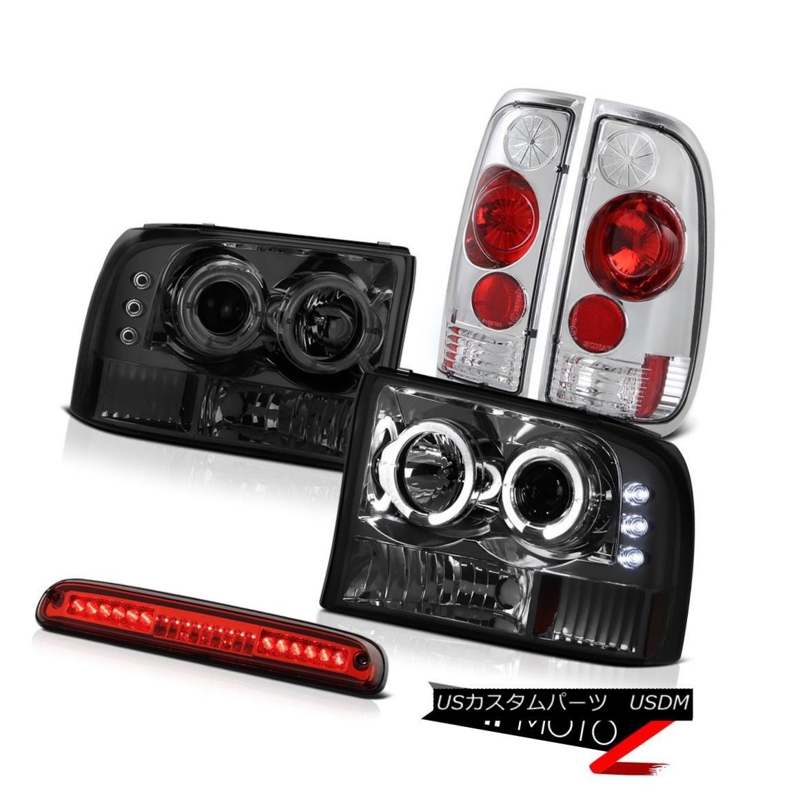 ヘッドライト Projector Smoke Headlight Rear Tail Lamps Third Brake LED 1999-2004 Ford F250 SD プロジェクター煙ヘッドライトリアテールランプ第3ブレーキLED 1999-2004 Ford F250 SD