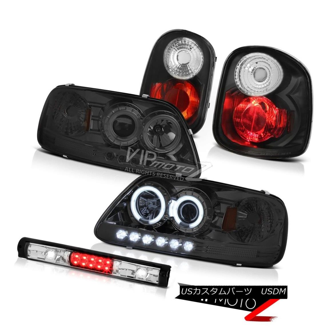 ヘッドライト CCFL Angel Eye Headlights Corner Tail Lights Black 3rd 97-00 F150 Flareside SVT CCFLエンジェルアイヘッドライトコーナーテールライトブラック3rd 97-00 F150 Flareside SVT