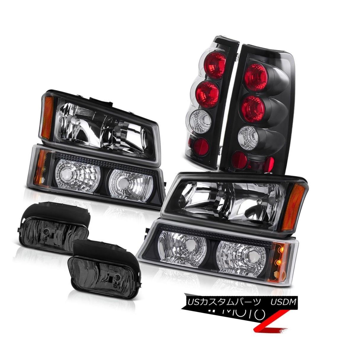 ヘッドライト 03-06 Silverado Black Headlight Crystal Bumper Smoked Tail Lights Brake Foglight 03-06 Silverado BlackヘッドライトクリスタルバンパースモークテールライトブレーキFoglight