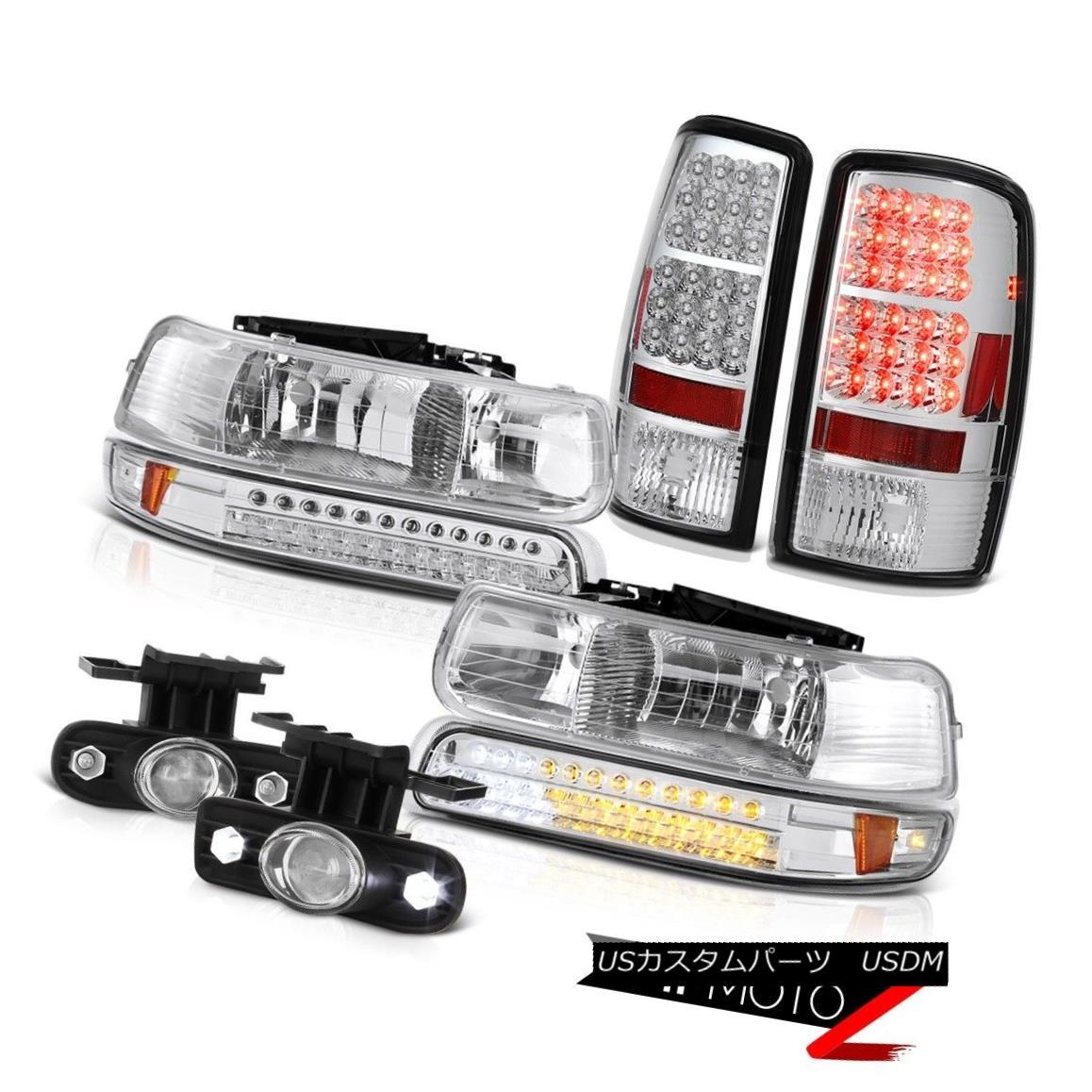 ヘッドライト 00 01 02 03 04 05 06 Suburban 5.3L LED Headlights Euro Tail Lights Chrome Fog 00 01 02 03 04 05 06郊外5.3L LEDヘッドライトユーロテールライトクロムフォグ