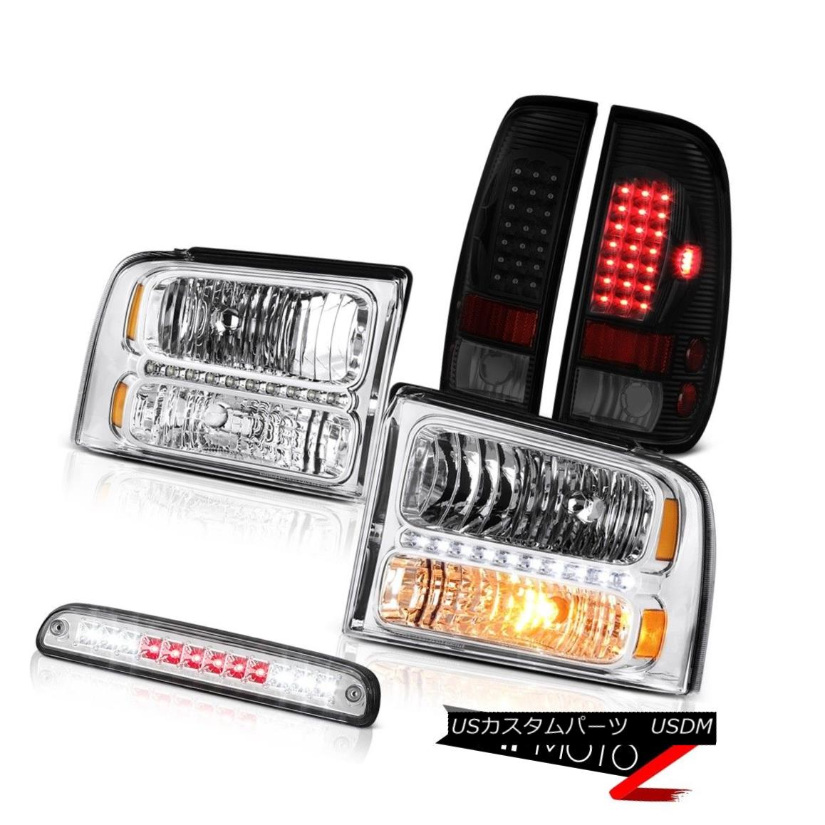 ヘッドライト 2005-2007 F250 King Ranch Chrome Headlamps Parking Brake Lights Roof Cab Light 2005-2007 F250キングランチクロームヘッドライトパーキングブレーキライトルーフキャブライト