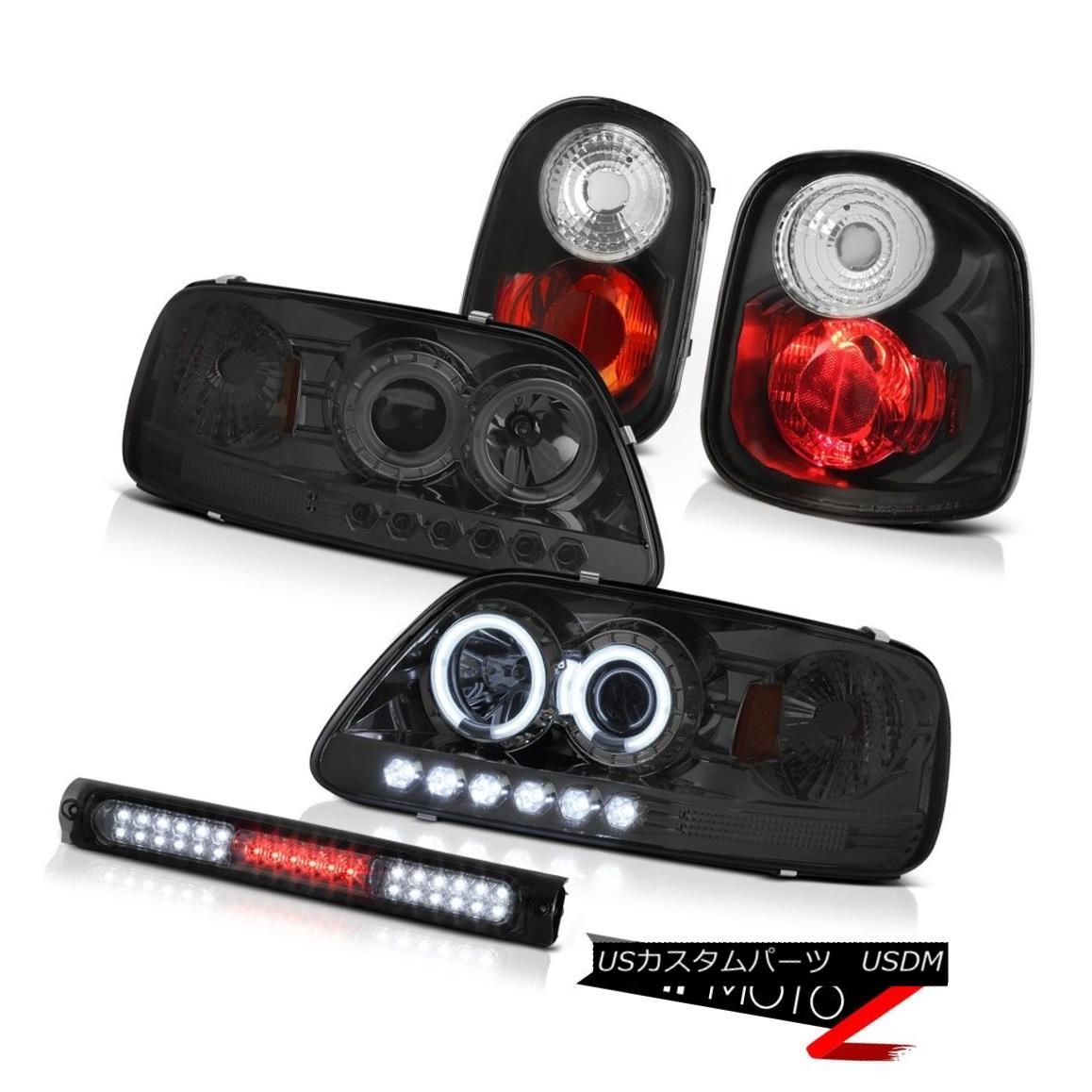 ヘッドライト CCFL Angel Eye Headlamps Black Taillamps High LED Smoke 97-00 F150 Flareside SVT CCFLエンジェルアイヘッドランプブラックタイルランプハイLED煙97-00 F150 Flareside SVT