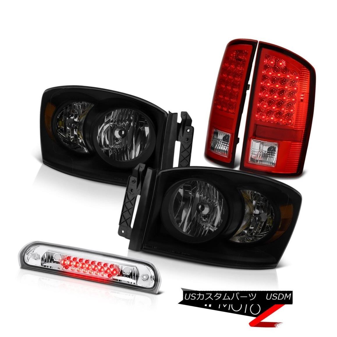 ヘッドライト 07-09 Dodge Ram 2500 3500 4.7L Headlights Roof Cargo Lamp Bloody Red Taillamps 07-09ダッジラム2500 3500 4.7Lヘッドライト屋根カーゴランプブラッディレッドタイルランプ