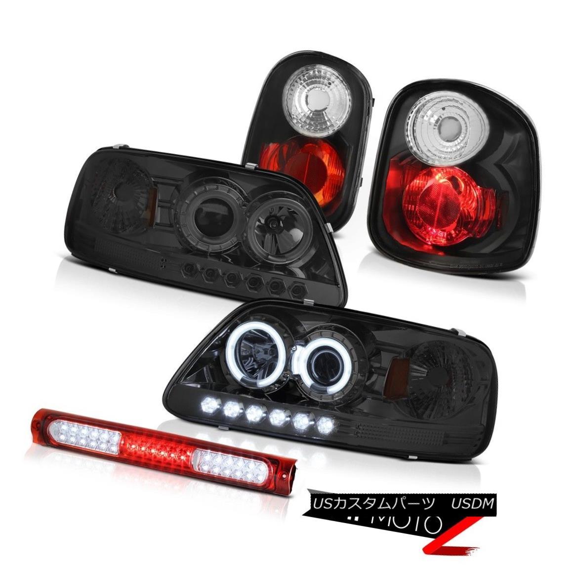 ヘッドライト Brightest C.C.F.L Halo Headlights Tail Lamps Third LED 97-00 Ford F150 Flareside 最も明るいC.C.F.Lハローヘッドライトテールランプ第3のLED 97-00 Ford F150 Flareside