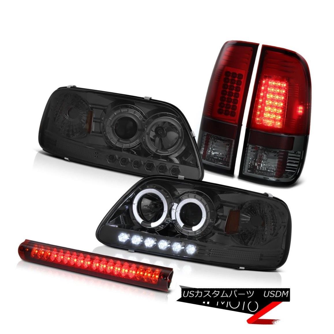 ヘッドライト Halo Projector Smoke Headlight 97-03 F150 SVT Burgundy LED Taillight Brake Bulbs ハロープロジェクター煙ヘッドライト97-03 F150 SVTブルゴーニュLED迷路ブレーキバルブ