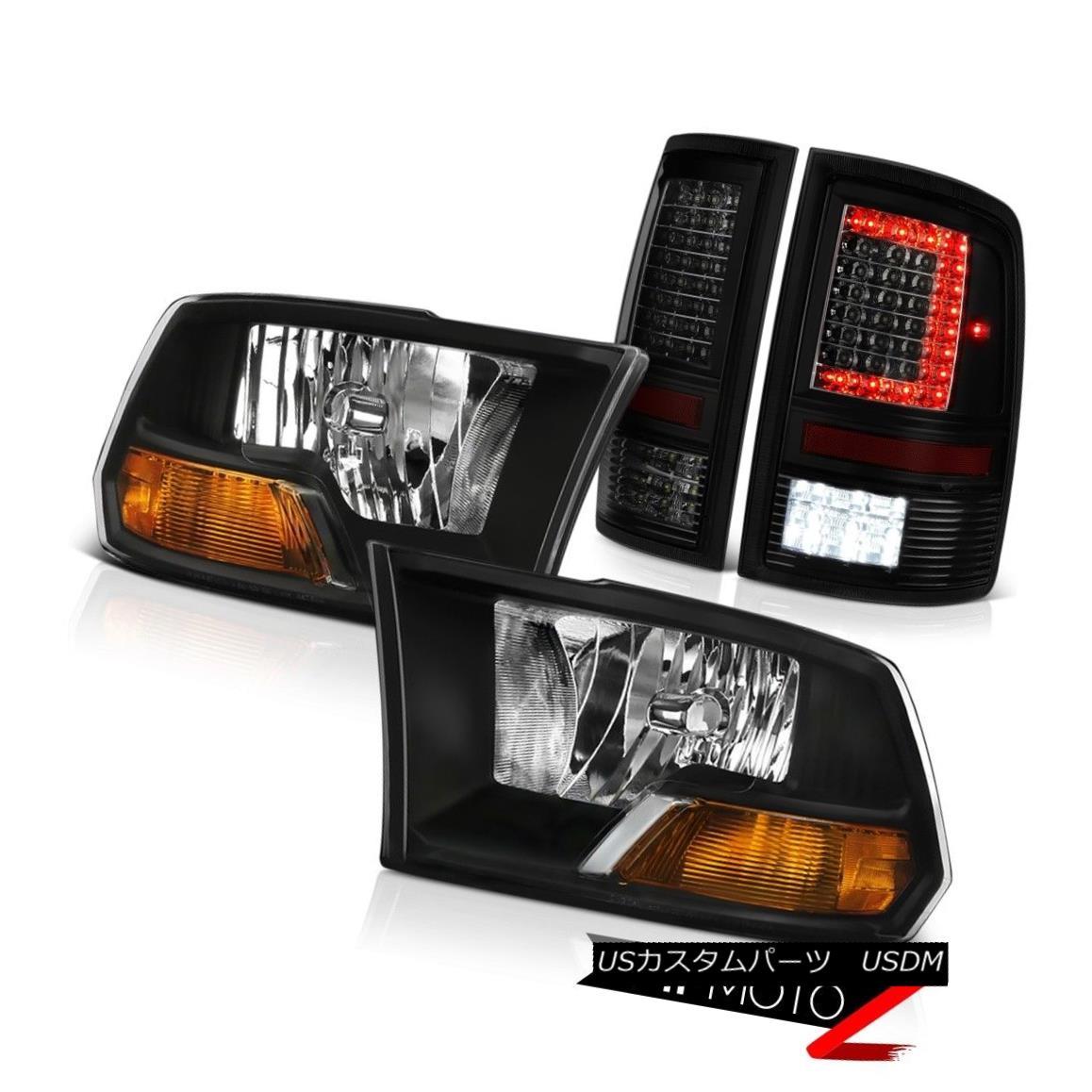 ヘッドライト 09-16 17 18 Dodge RAM 1500 2500 Dark Tinted Tail Lamp Factory Style Headlamps 09-16 17 18ダッジRAM 1500 2500ダークテールテールランプ工場スタイルヘッドランプ