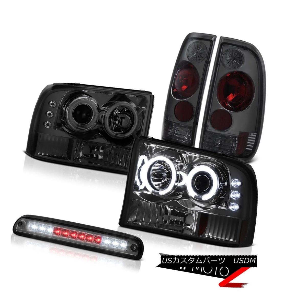 ヘッドライト Quality CCFL Rim Headlights Stop LED Rear Brake TailLight 1999-2004 Ford F350 品質CCFLリムヘッドライトストップLEDリアブレーキTailLight 1999-2004 Ford F350